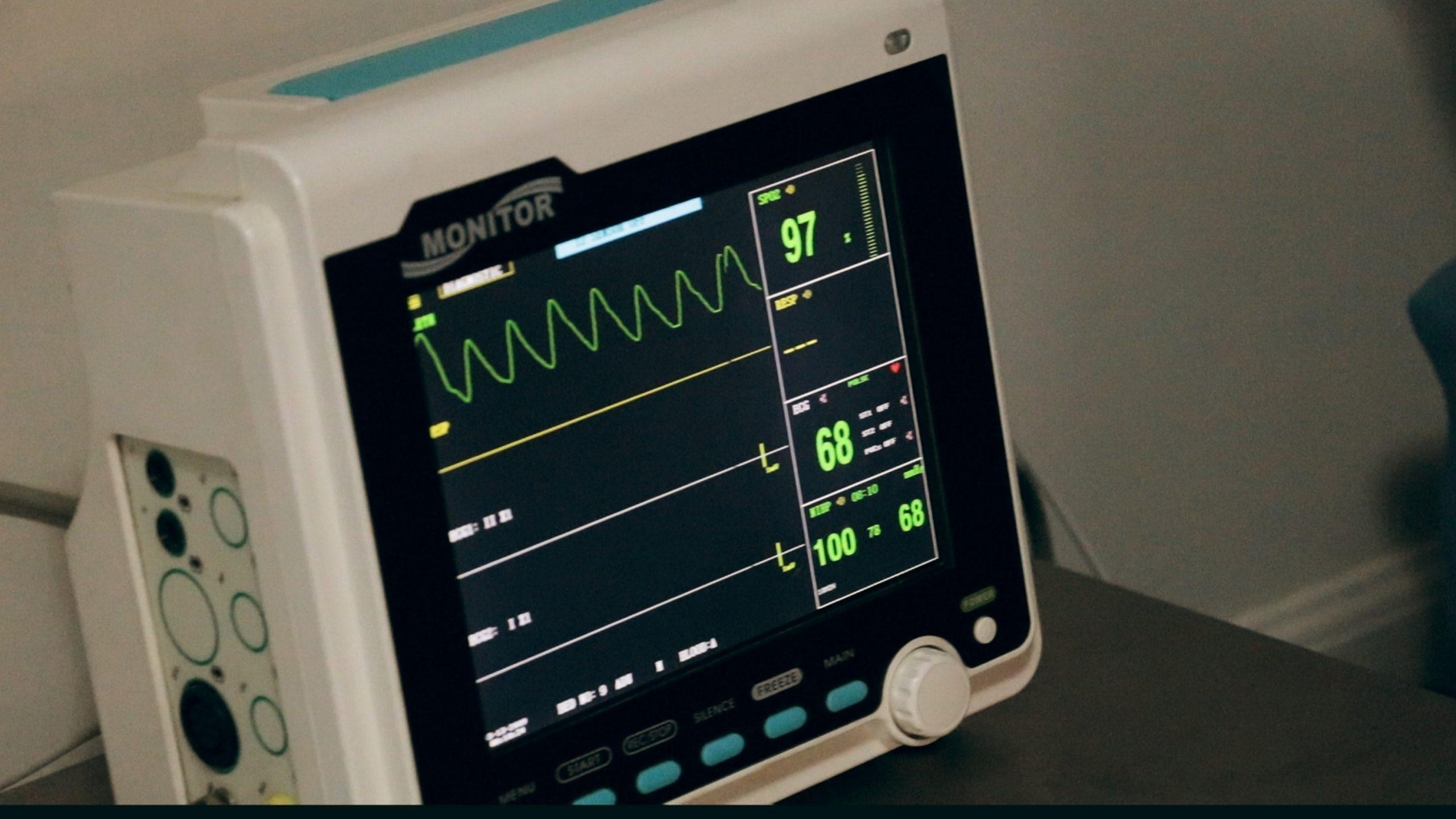 A hospital monitor.