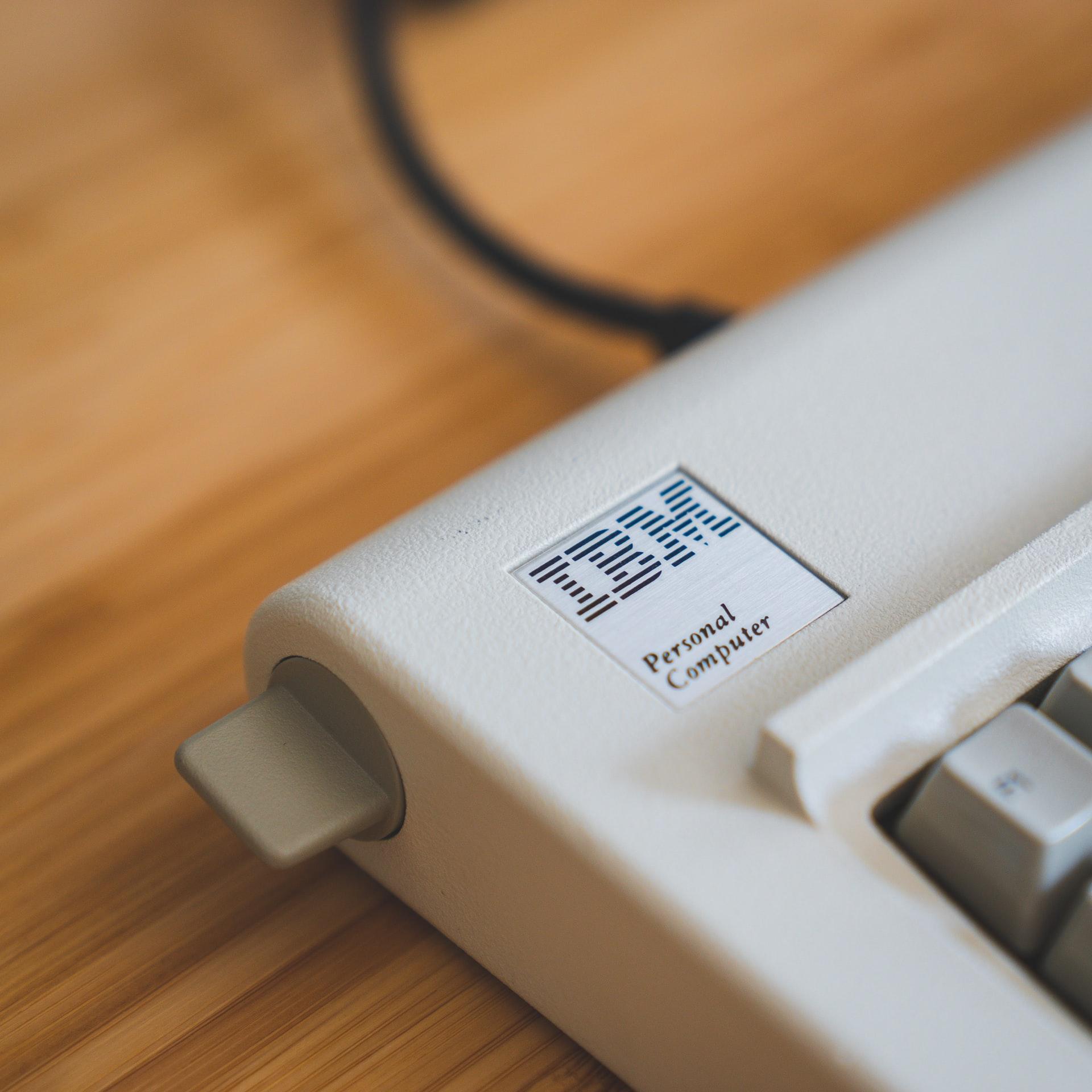 An IBM keyboard.